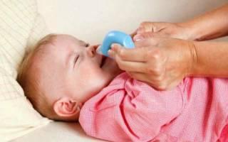 Как у младенца убрать сопли из носа