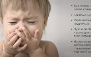 Ребенка рвет желчью и температура